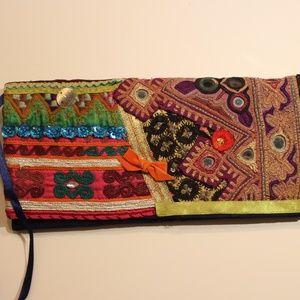 Handbags - ETHNIC BLUE CLUTCH